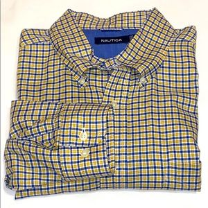 Nautica Gold, Blue Dress Shirt